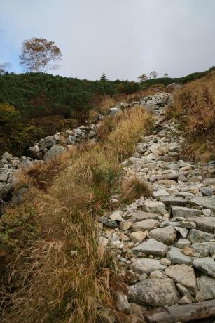 黒部源流から三俣山荘への道
