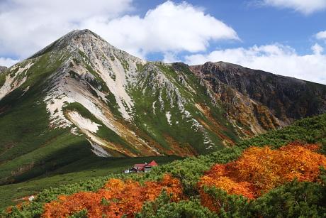 鷲羽岳と三俣山荘