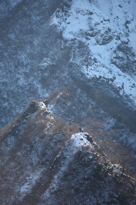 小ピークから急斜面のピーク