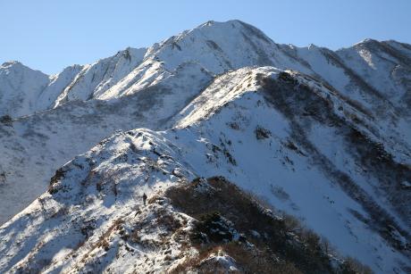 雪の天狗が峰と剣が峰