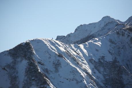 三鈷峰から見た象ヶ鼻上の尾根