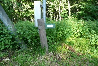 新穂高温泉の下山道標識