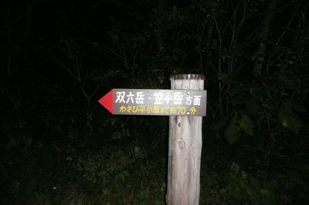 左俣林道入口ゲート前案内板