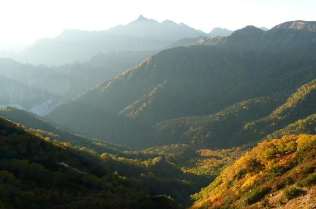 湯俣川源流の紅葉
