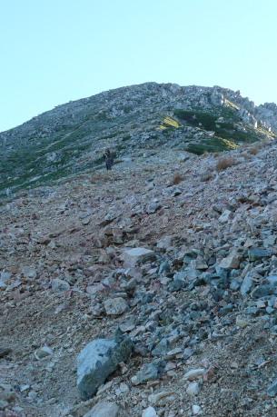 鷲羽岳登山道中間部