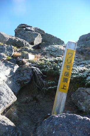 ワリモ山頂