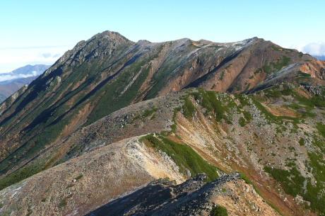 ワリモ岳から見た水晶岳
