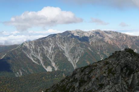 水晶岳から見た薬師岳