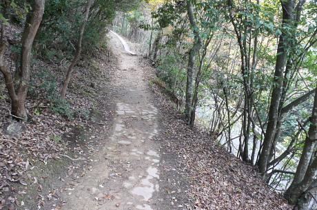 ふいご峠上の登山道
