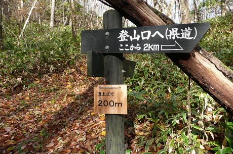 本当の頂上まで200m