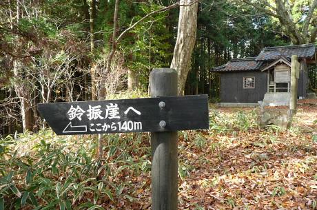 鈴振崖への道標