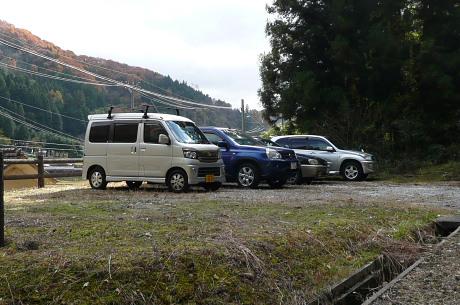 下山時の駐車場