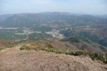 山頂から見た湯原の町並み