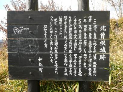 北曽根城跡の看板