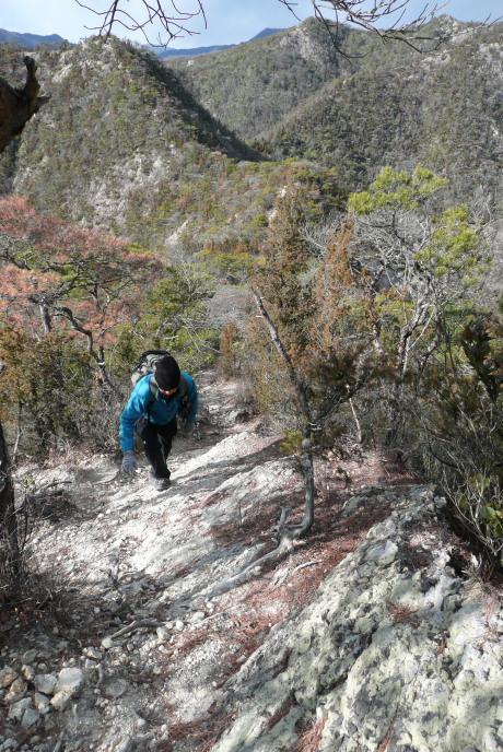 竜王山への急登