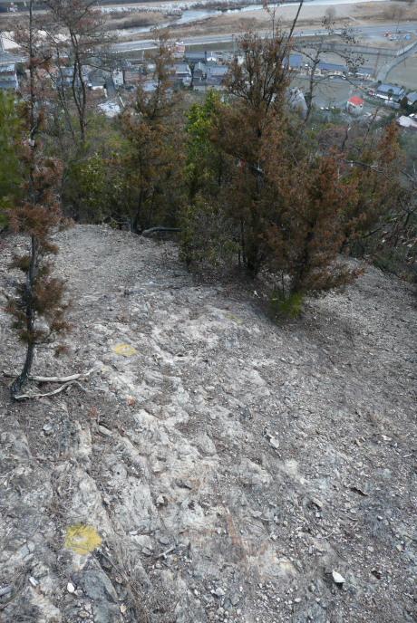 アタゴ様下の登山道
