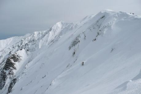八合目から見た大山北壁