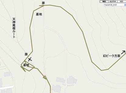 GPSの軌跡マップ
