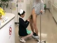 その場で性交する病院内でナースさんが行う性欲ケアの風景!