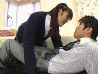 180cmの高身長痴女子校生に責められる童貞M男教師:岡本渚