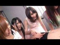 4人の可愛い女の子たちに 指だけでチ○ポを弄ばれ連続発射させられちゃう!