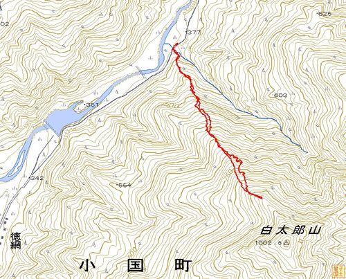 白太郎山地図
