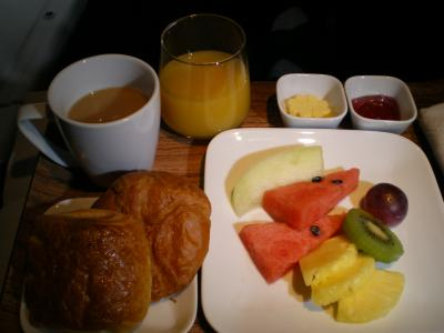 ハワイ2012.7機内朝食