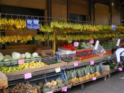 ハワイ2012.7中華街マーケット八百屋