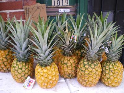 ハワイ2012.7中華街パイナップル