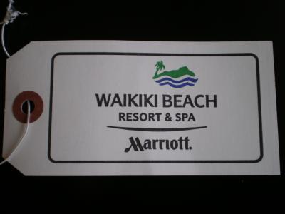 ハワイ2012.7マリオット荷物タグ