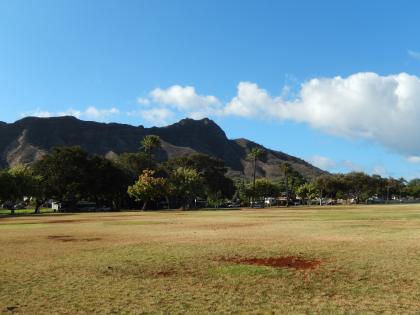 ハワイ2013.7朝のダイモンドヘッド