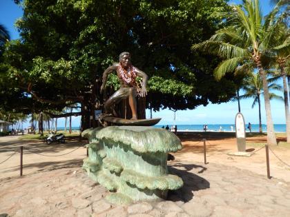 ハワイ2013.7ワイキキのブロンズ像・サーフィン