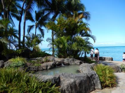 ハワイ2013.7ワイキキビーチ・ミニガーデン