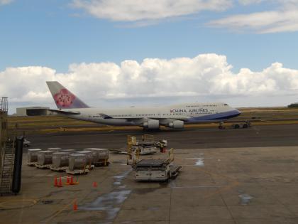 ハワイ2013.7ホノルル空港チャイナエアライン機