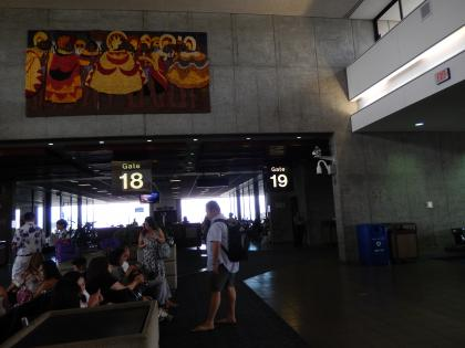 ハワイ2013.7ホノルル空港コンコース
