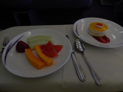 ハワイ2013.7チャイナエアライン機内食1食目デザート