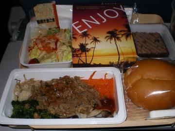 SIN2012.2DL機内食