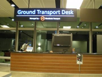SIN2012.2チャンギ空港シャトル受付