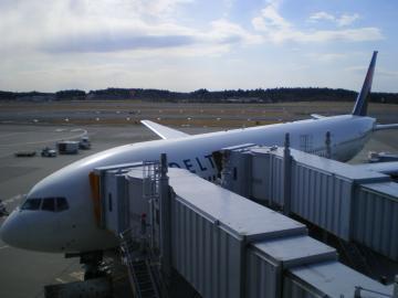 デルタ航空622便成田到着