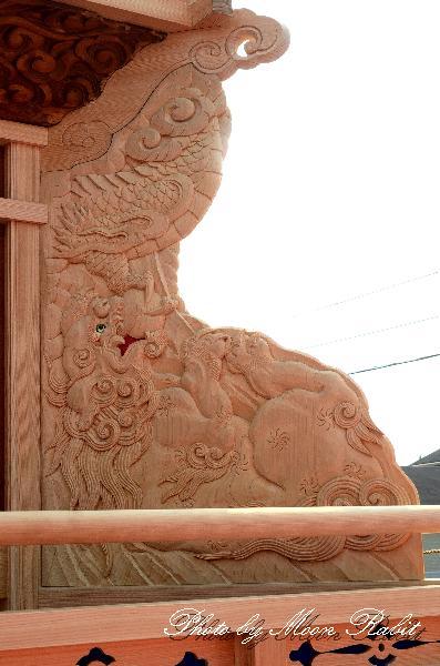 喜多川中だんじり(屋台・楽車) 胴板・隅障子・乳隠など 平成大改修竣成記念式典にて 西条祭り 伊曽乃神社祭礼 2011年10月2日