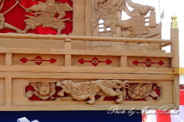 下町中だんじり(屋台・楽車) 胴板・隅障子・乳隠など 屋台創建30周年式典にて 西条祭り 伊曽乃神社祭礼 2011年10月2日