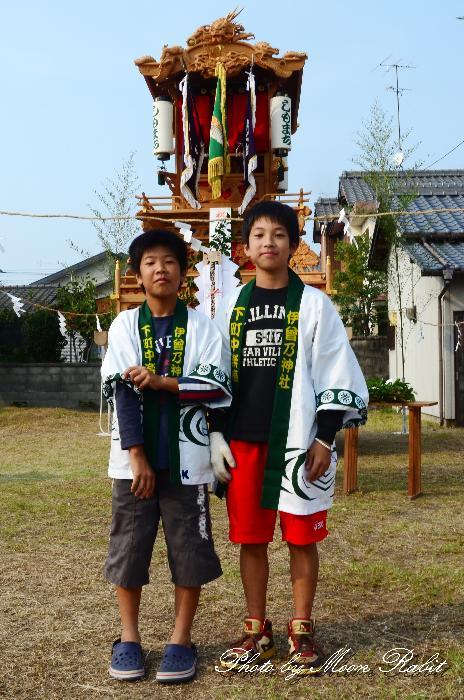 下町中だんじり 屋台創建30周年式典 愛媛県西条市下町中 2011年10月9日