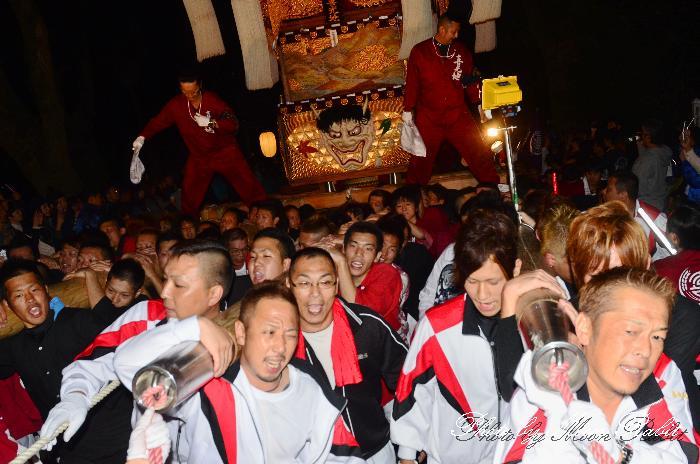 内宮神社かき上げ・宮出し 新居浜太鼓祭り2011 喜光地太鼓台