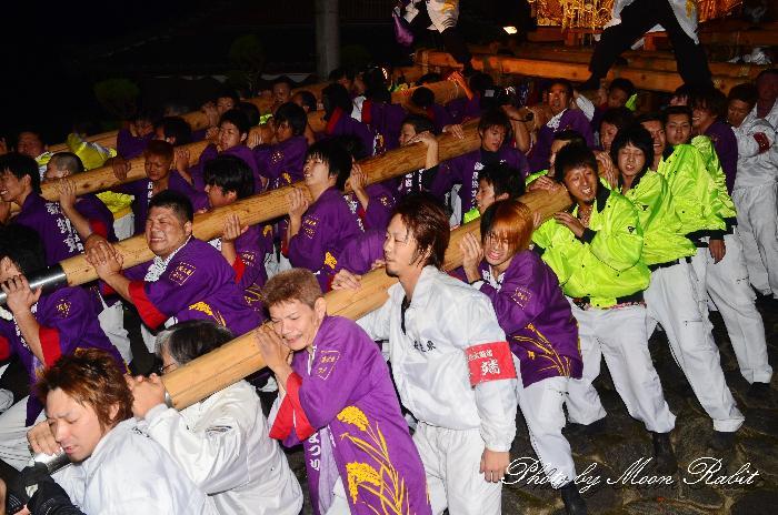 萩岡神社氏参り 新居浜太鼓祭り2011 萩生東太鼓台