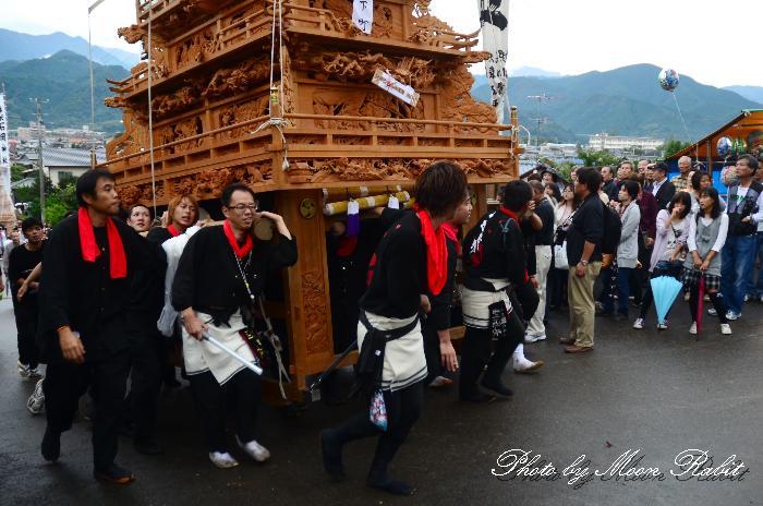 石岡神社祭礼2011 宮入り 下町だんじり(屋台・楽車) 桜の馬場