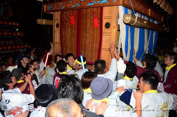 西条祭り 栄町上組だんじり(榮町上組屋台・楽車) 伊曽乃神社祭礼 宮出し