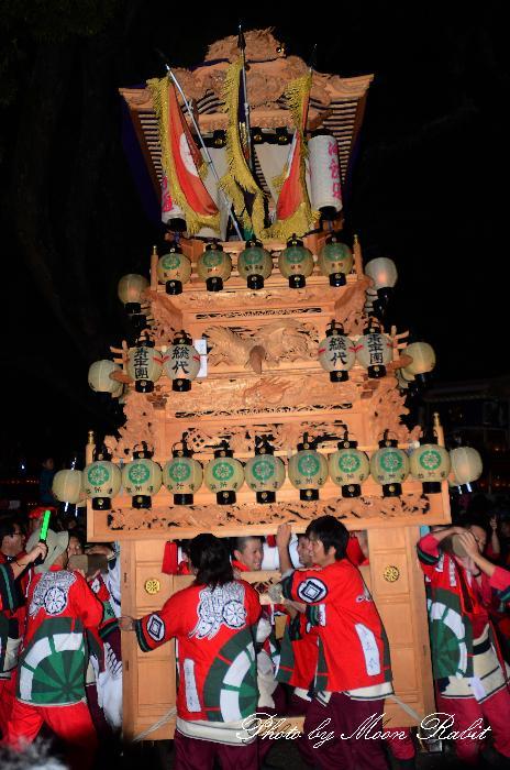 西条祭り 御所通りだんじり(屋台・楽車) 伊曽乃神社祭礼 宮出し