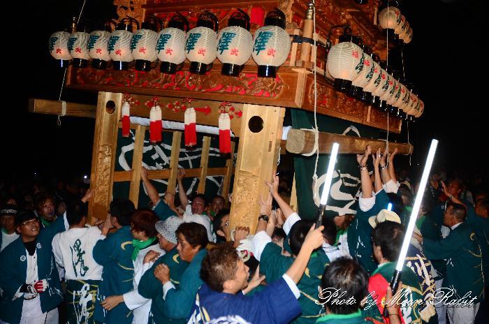 西条祭り2011 沢だんじり(澤屋台・楽車) 伊曽乃神社祭礼 宮出し 2011年10月15日