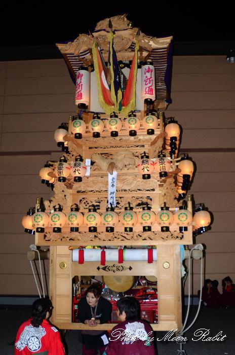西条祭り2011 御所通りだんじり(屋台・楽車) 伊曽乃神社祭礼 後夜祭 マルヨシセンター西条店
