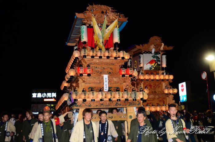 西条祭り2011 若草町だんじり(屋台・楽車) 伊曽乃神社祭礼 後夜祭 マルヨシセンター西条店